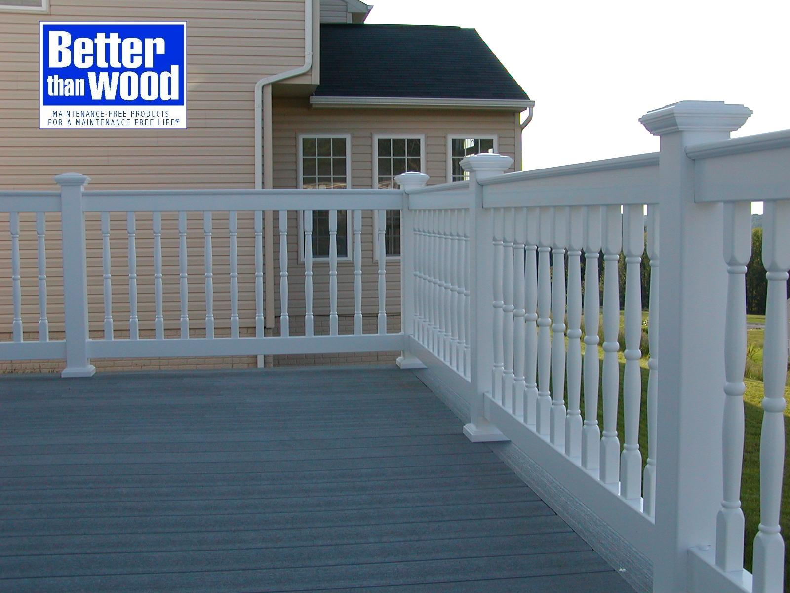 Deck Rail with Colonial Pickets