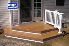 Angled Cedar GeoDeck Stair