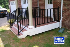 Entry Stair with Metal Rail