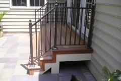 Ipe Stair with Metal Rail