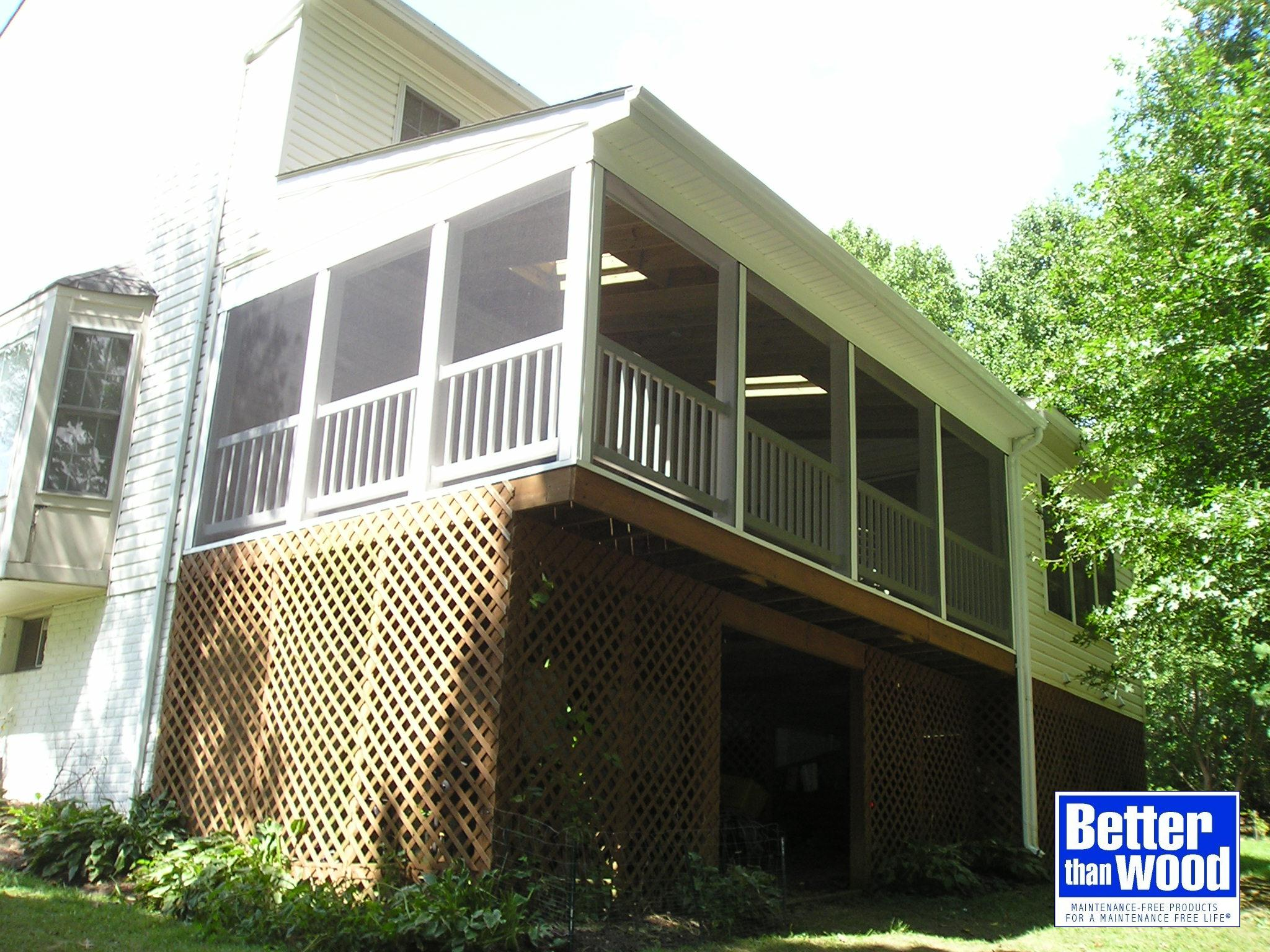 Screen Porch over Existing Deck