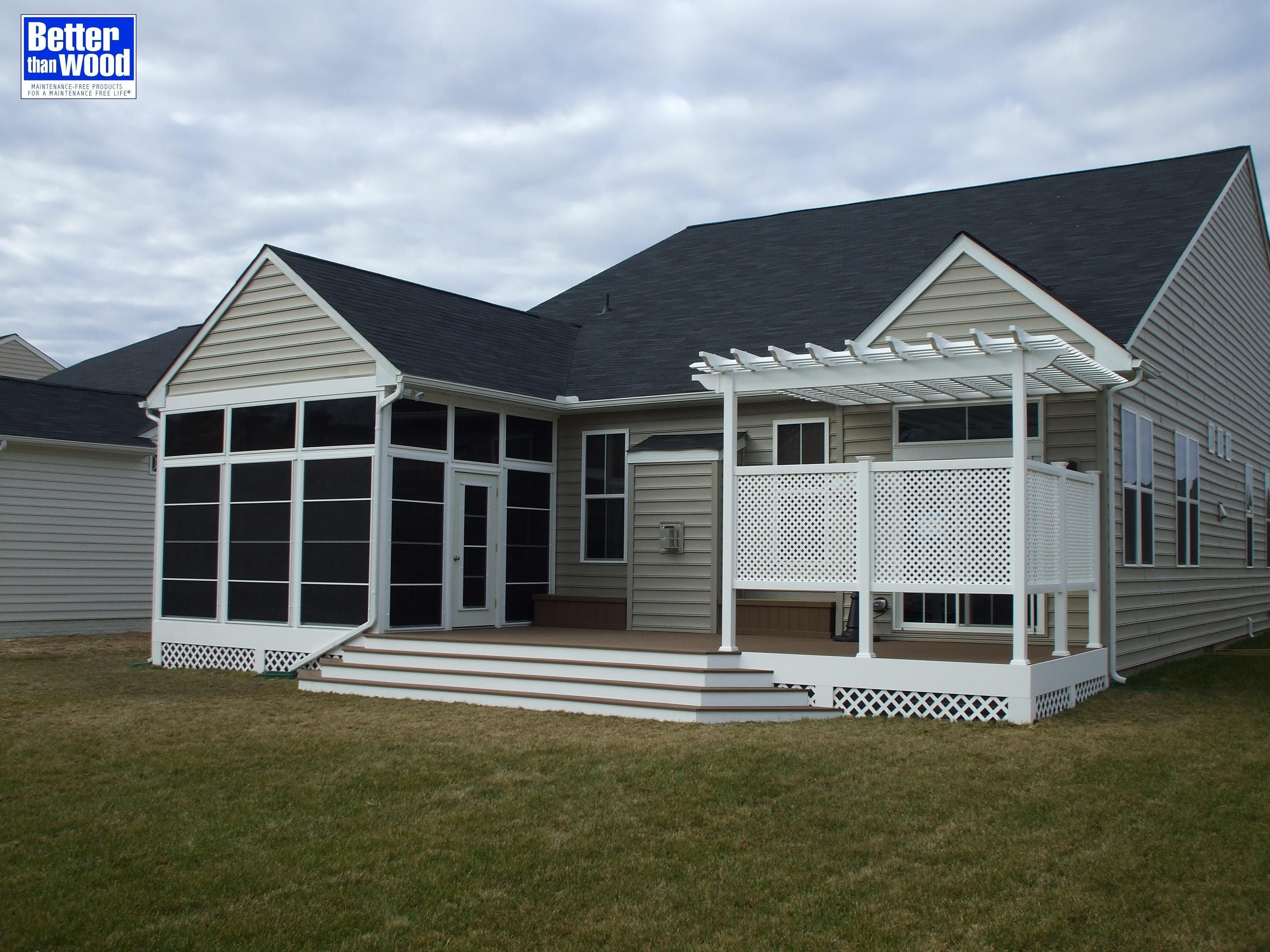 Screened In Porch with Deck