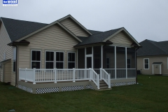 Screened In Porch and Deck Combo