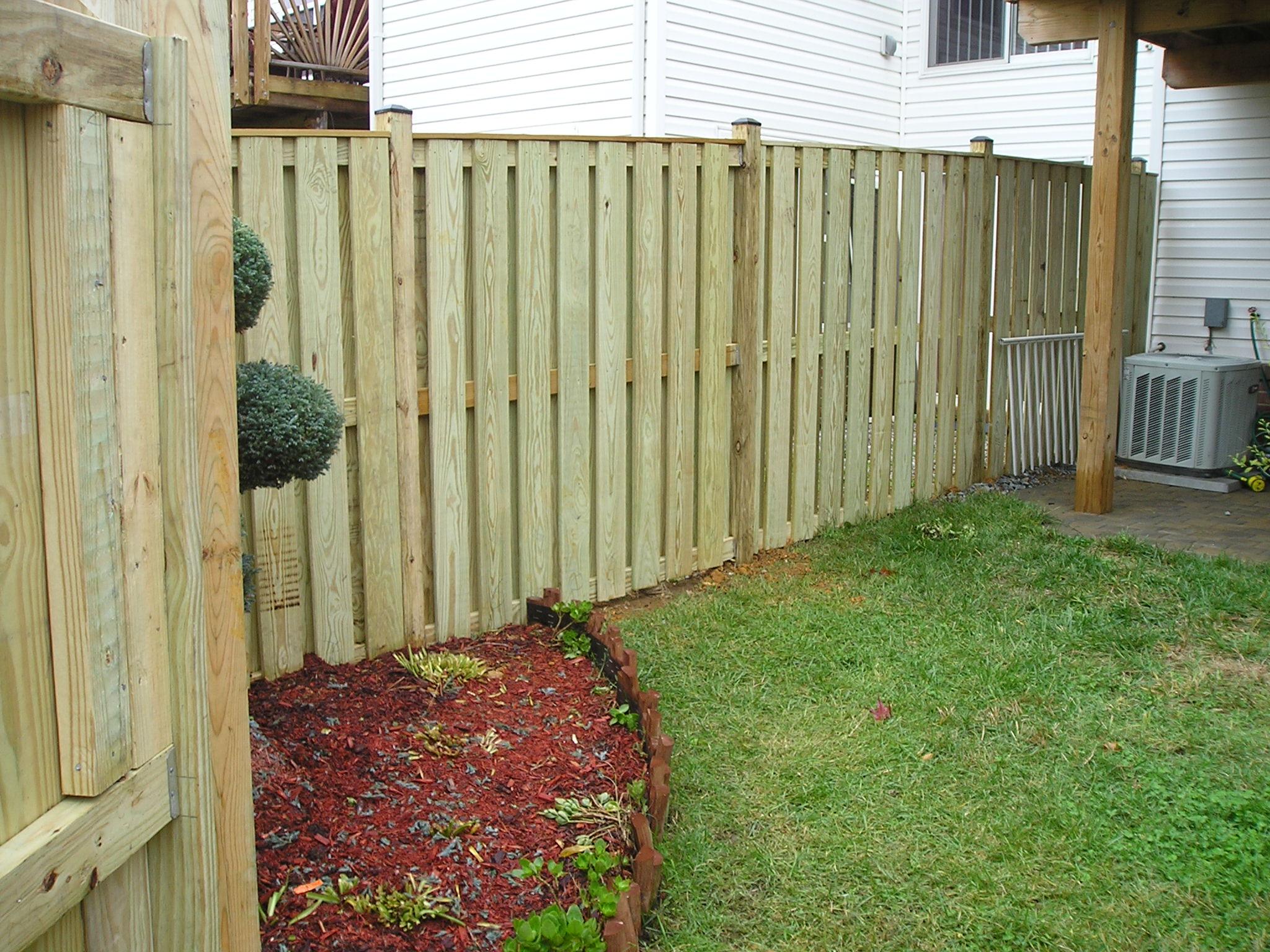 Wood Yard Fence