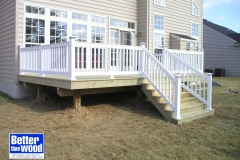 Wood Deck with Vinyl Rails