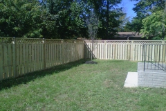 Wood Semi-Privacy Fence
