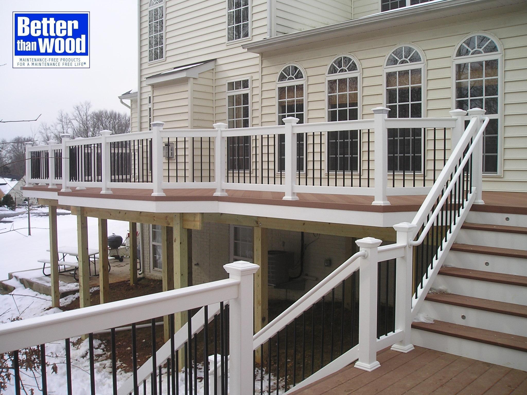 Deck with Decorative Rails