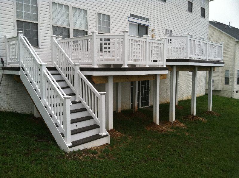 Deck with Decorative Rail Panels